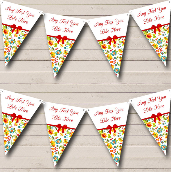 Bright Summer Shabby Chic Personalised Hen Do Night Party Bunting