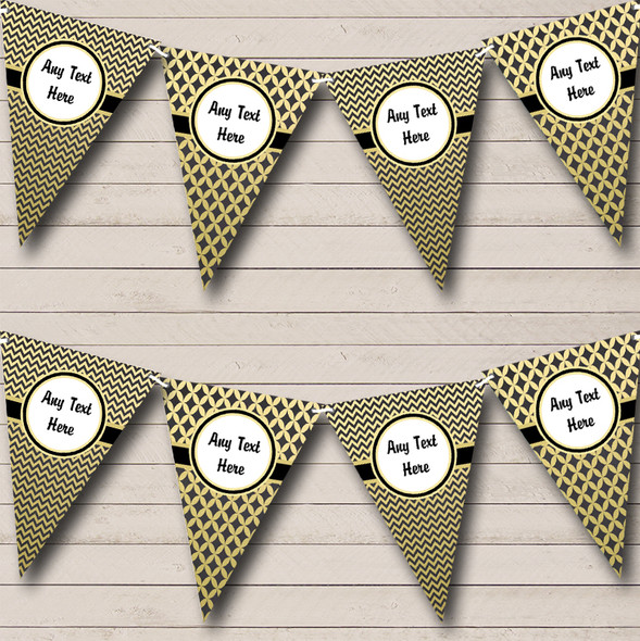 Black & Gold Personalised Hen Do Night Party Bunting