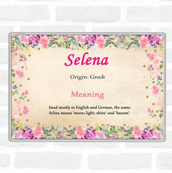 Selena Name Meaning Jumbo Fridge Magnet Floral