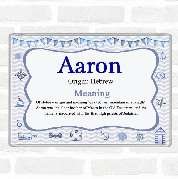Aaron Name Meaning Jumbo Fridge Magnet Nautical