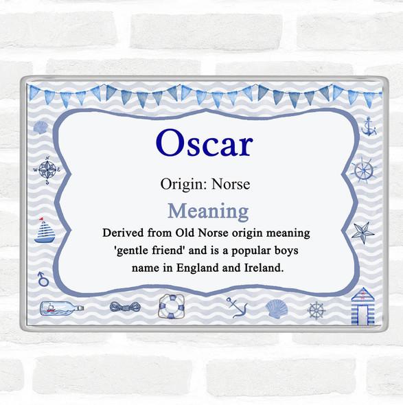 Oscar Name Meaning Jumbo Fridge Magnet Nautical