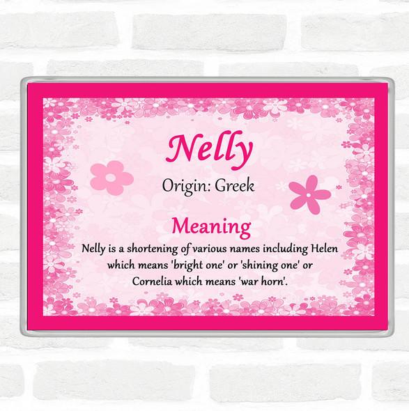 Nelly Name Meaning Jumbo Fridge Magnet Pink