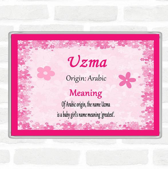 Uzma Name Meaning Jumbo Fridge Magnet Pink