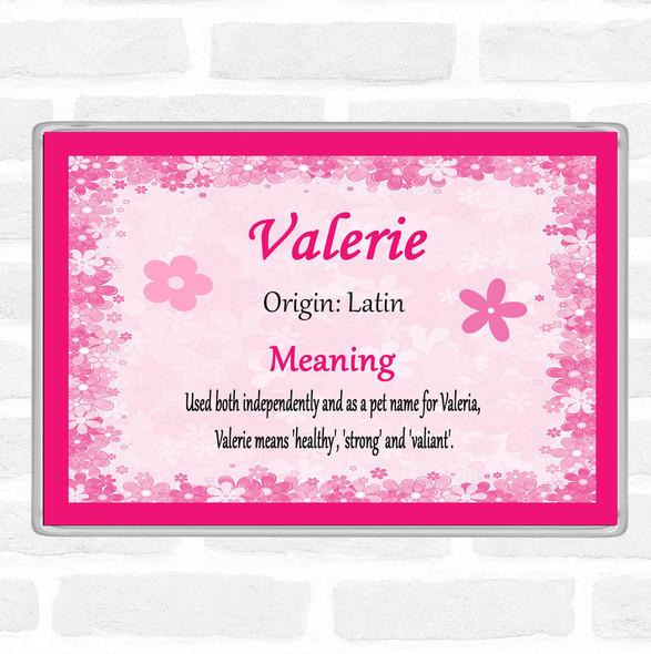 Valerie Name Meaning Jumbo Fridge Magnet Pink