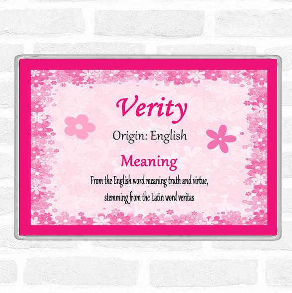 Verity Name Meaning Jumbo Fridge Magnet Pink