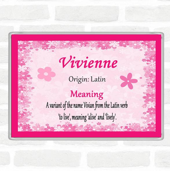 Vivienne Name Meaning Jumbo Fridge Magnet Pink