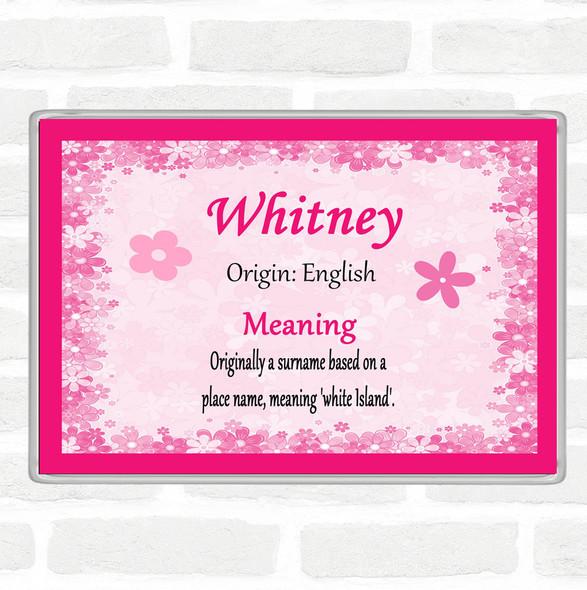 Whitney Name Meaning Jumbo Fridge Magnet Pink