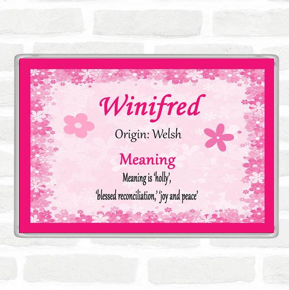 Winifred Name Meaning Jumbo Fridge Magnet Pink