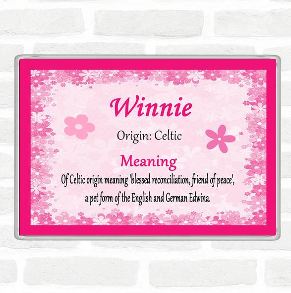 Winnie Name Meaning Jumbo Fridge Magnet Pink