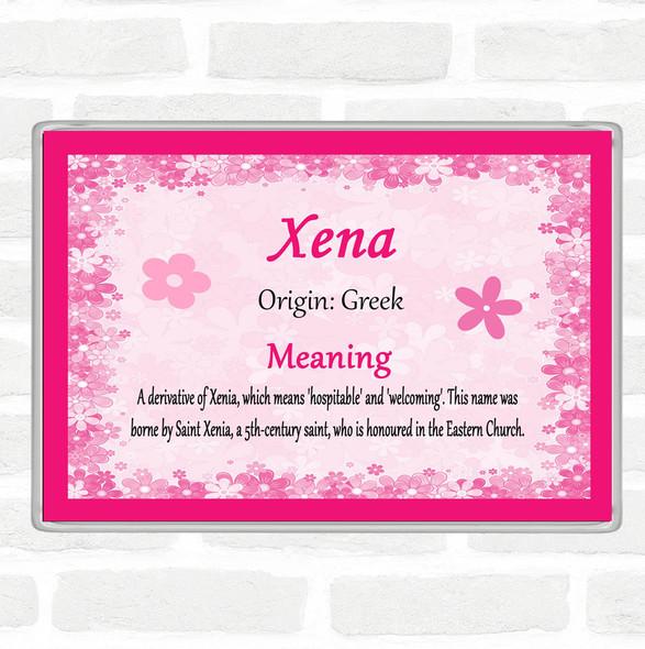 Xena Name Meaning Jumbo Fridge Magnet Pink