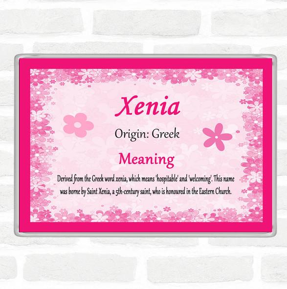 Xenia Name Meaning Jumbo Fridge Magnet Pink