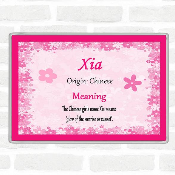Xia Name Meaning Jumbo Fridge Magnet Pink