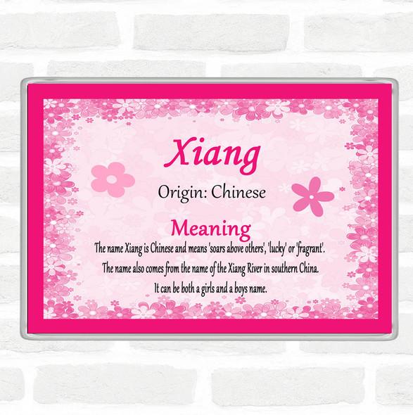 Xiang Name Meaning Jumbo Fridge Magnet Pink