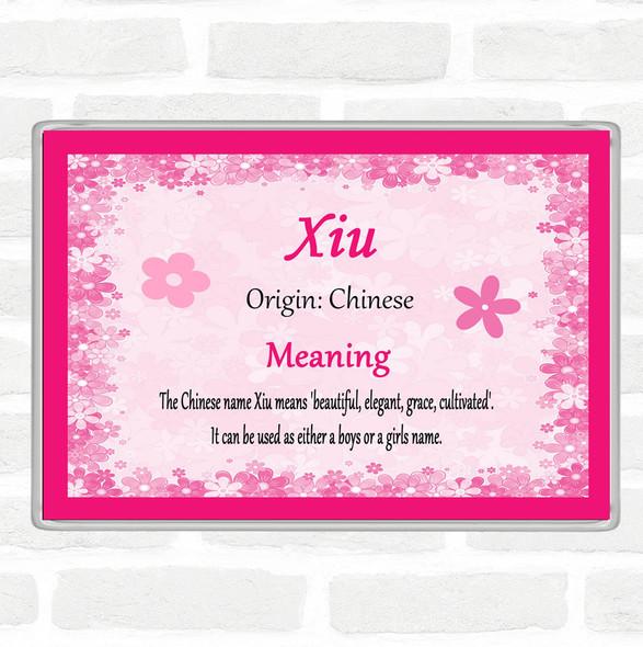 Xiu Name Meaning Jumbo Fridge Magnet Pink