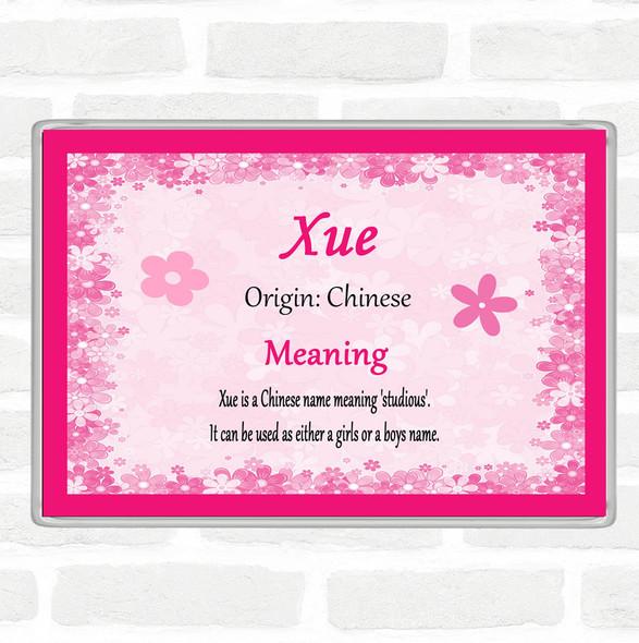 Xue Name Meaning Jumbo Fridge Magnet Pink