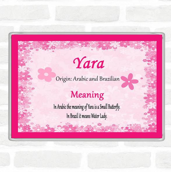 Yara Name Meaning Jumbo Fridge Magnet Pink