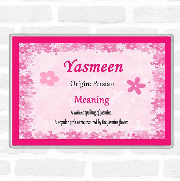Yasmeen Name Meaning Jumbo Fridge Magnet Pink