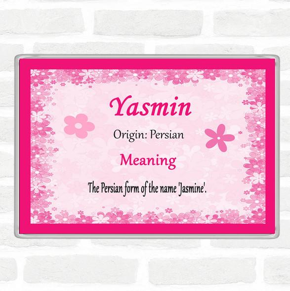 Yasmin Name Meaning Jumbo Fridge Magnet Pink