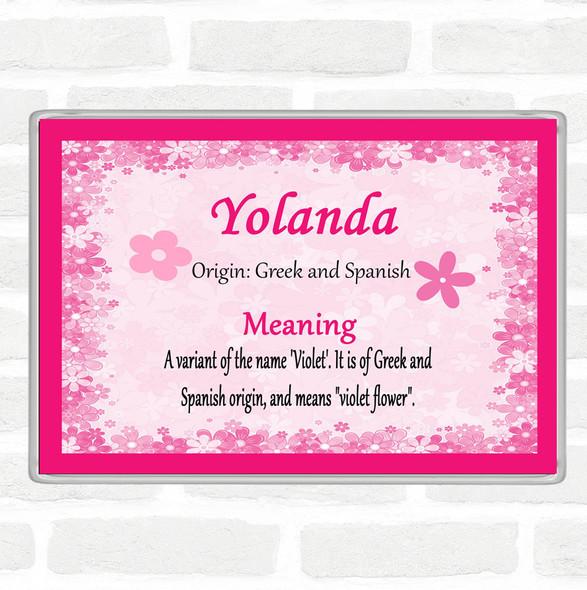 Yolanda Name Meaning Jumbo Fridge Magnet Pink