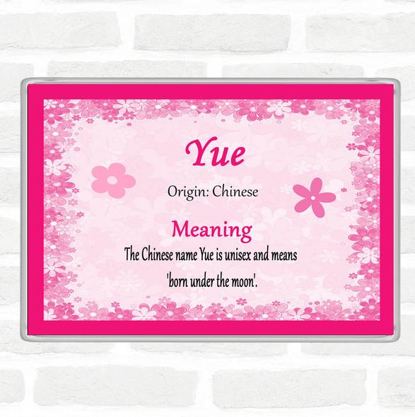 Yue. Name Meaning Jumbo Fridge Magnet Pink