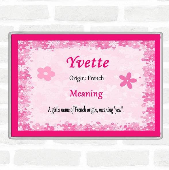 Yvette Name Meaning Jumbo Fridge Magnet Pink