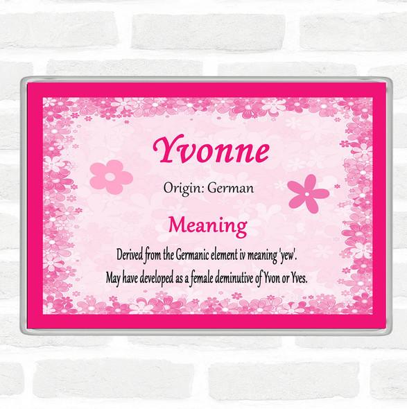 Yvonne Name Meaning Jumbo Fridge Magnet Pink