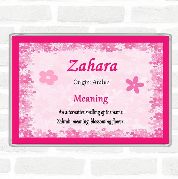 Zahara Name Meaning Jumbo Fridge Magnet Pink