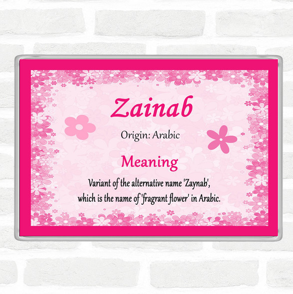 Zainab Name Meaning Jumbo Fridge Magnet Pink