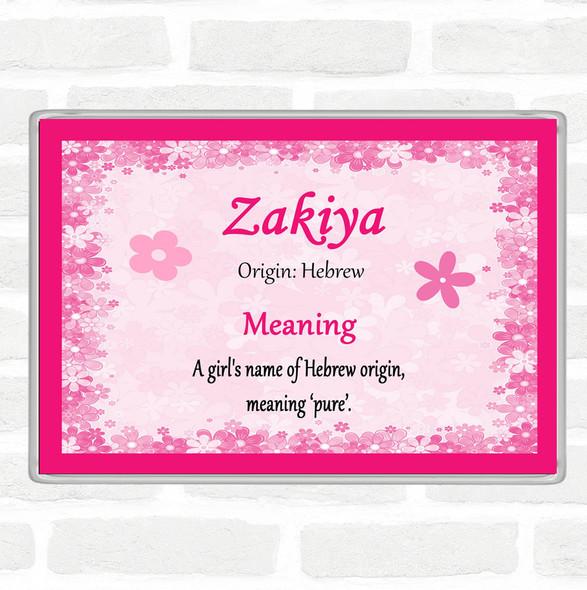 Zakiya Name Meaning Jumbo Fridge Magnet Pink
