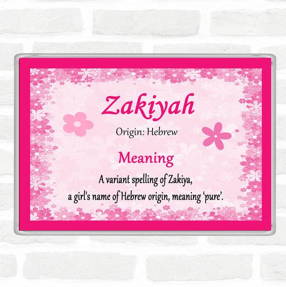 Zakiyah Name Meaning Jumbo Fridge Magnet Pink