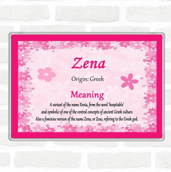 Zena Name Meaning Jumbo Fridge Magnet Pink
