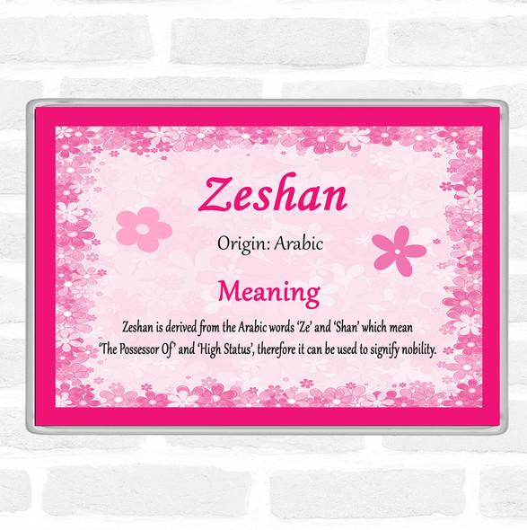 Zeshan Name Meaning Jumbo Fridge Magnet Pink