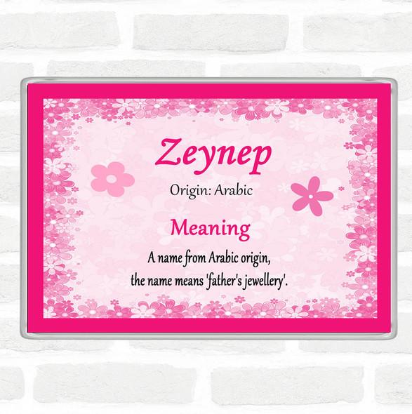 Zeynep Name Meaning Jumbo Fridge Magnet Pink