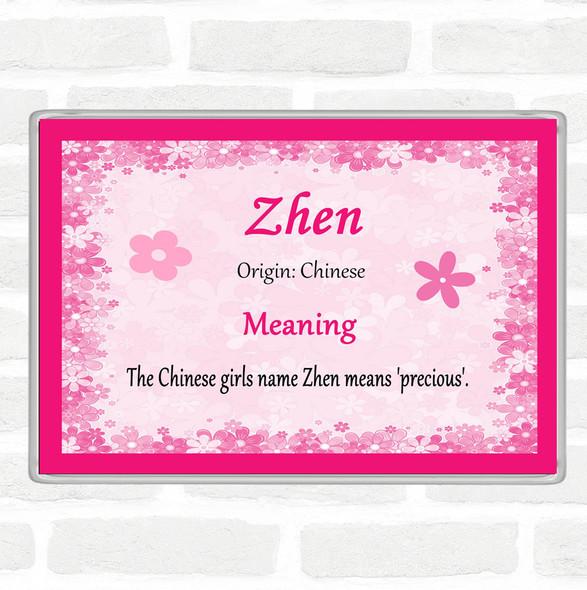 Zhen Name Meaning Jumbo Fridge Magnet Pink