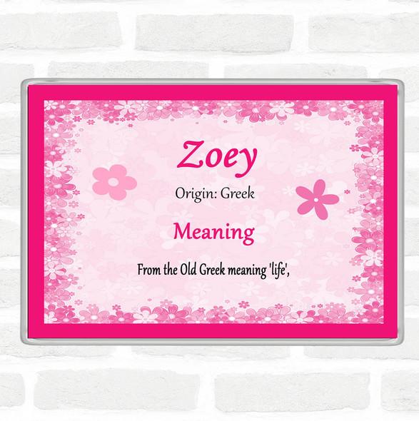 Zoey Name Meaning Jumbo Fridge Magnet Pink
