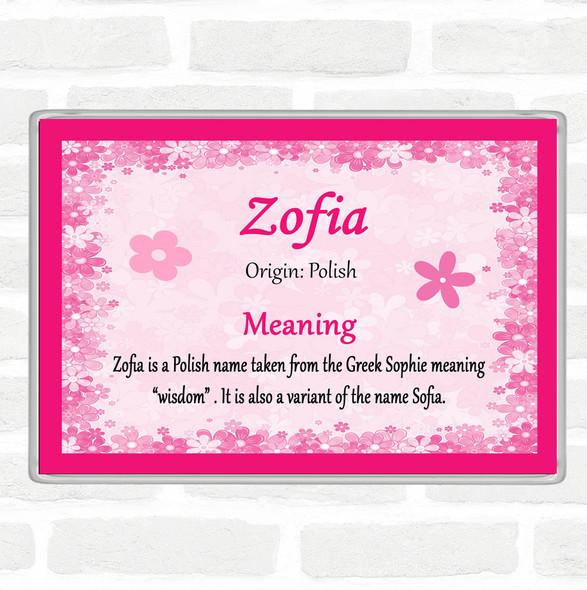 Zofia Name Meaning Jumbo Fridge Magnet Pink