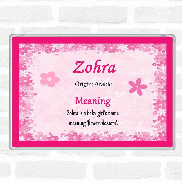 Zohra Name Meaning Jumbo Fridge Magnet Pink