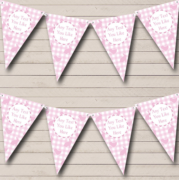 Pink Easter Bunny Personalised Easter Party Bunting