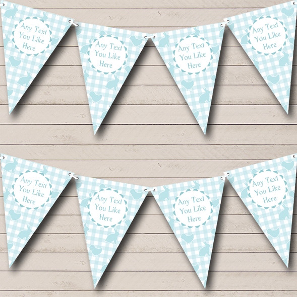 Blue Easter Bunny Personalised Easter Party Bunting