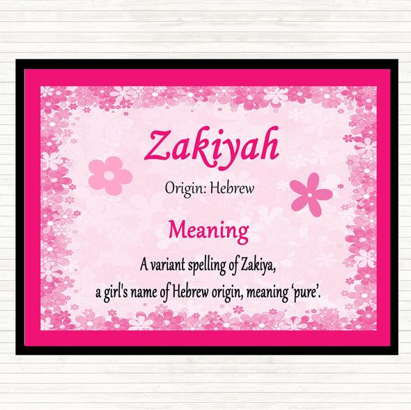 Zakiyah Name Meaning Mouse Mat Pad Pink