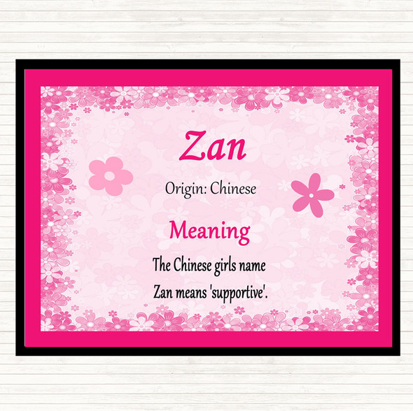 Zan Name Meaning Mouse Mat Pad Pink