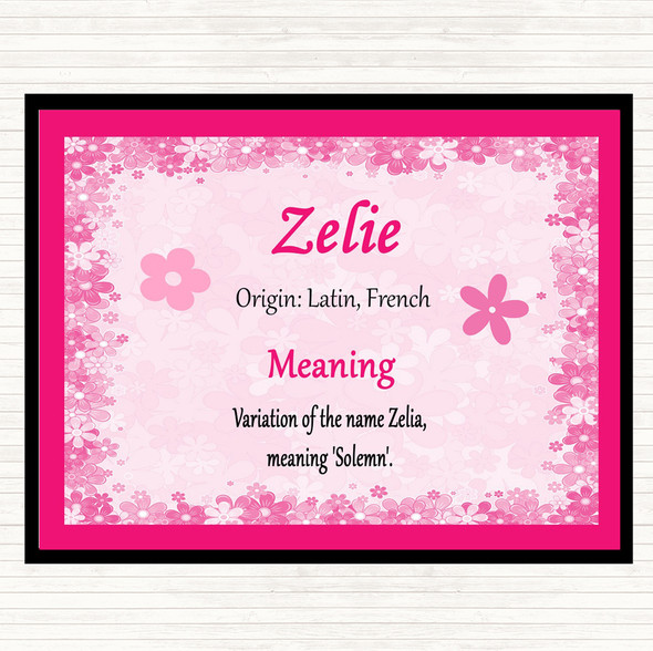 Zelie Name Meaning Mouse Mat Pad Pink