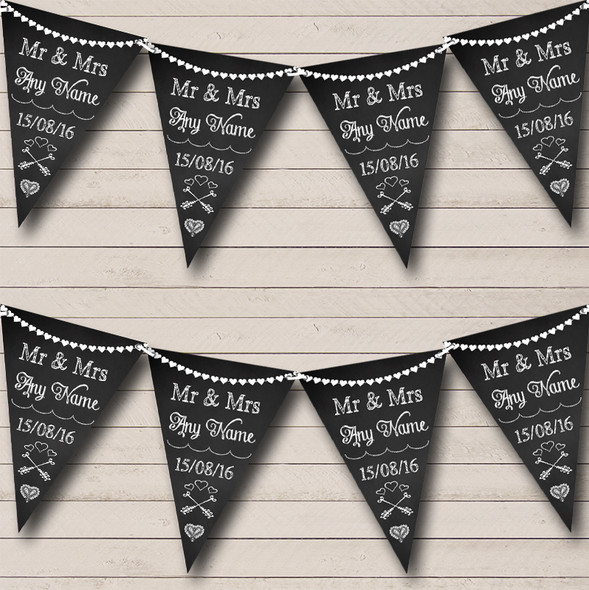 Chalkboard Mr & Mrs Personalised Engagement Party Bunting