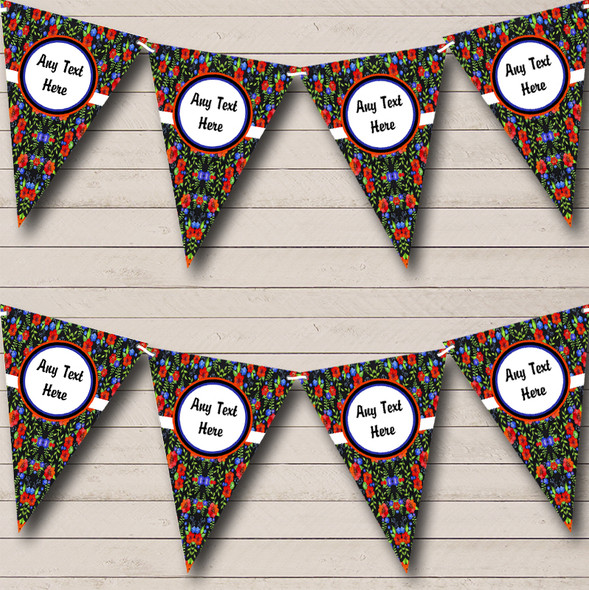 Chalk Style Floral Personalised Engagement Party Bunting