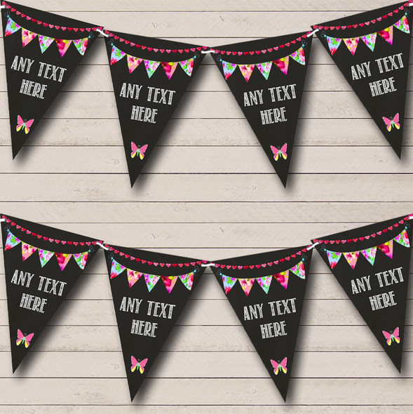 Bright Chalk Style Personalised Engagement Party Bunting