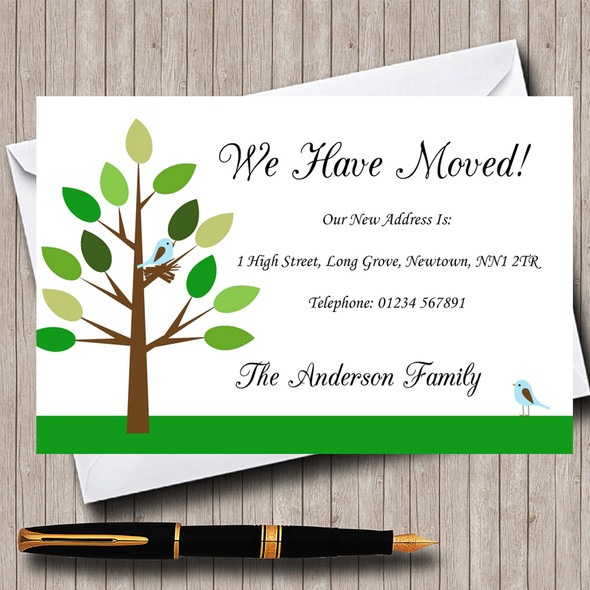 Birds Nest New Home Change Of Address Moving House Cards