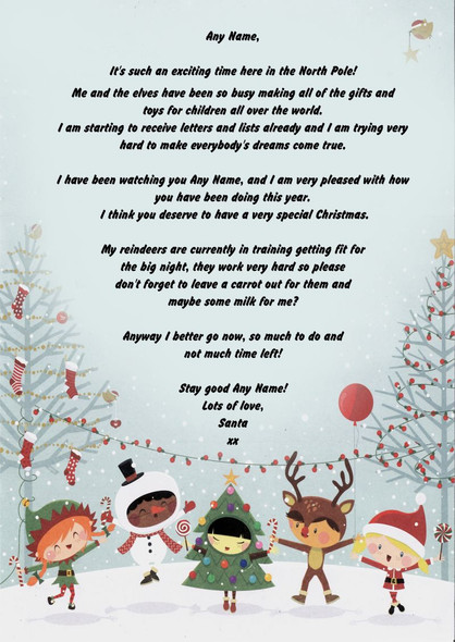 Snowy Personalised Christmas Letter From Santa