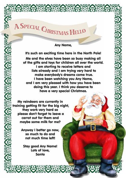 White Santa's Letter Personalised Christmas Letter From Santa
