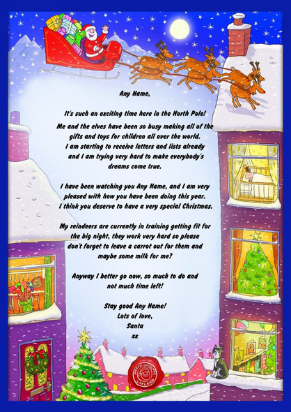 Winter Scene Personalised Christmas Letter From Santa