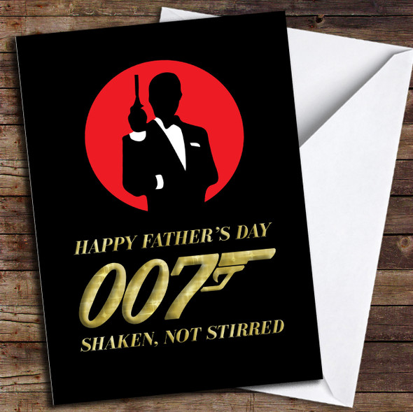 007 James Bond Cool Dad Personalised Father's Day Card